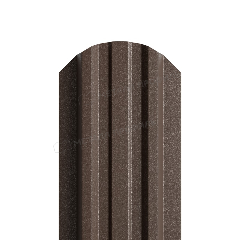Штакетник металлический МП LАNE-O 16,5х99 (VikingMP E-20-8019-0.5)