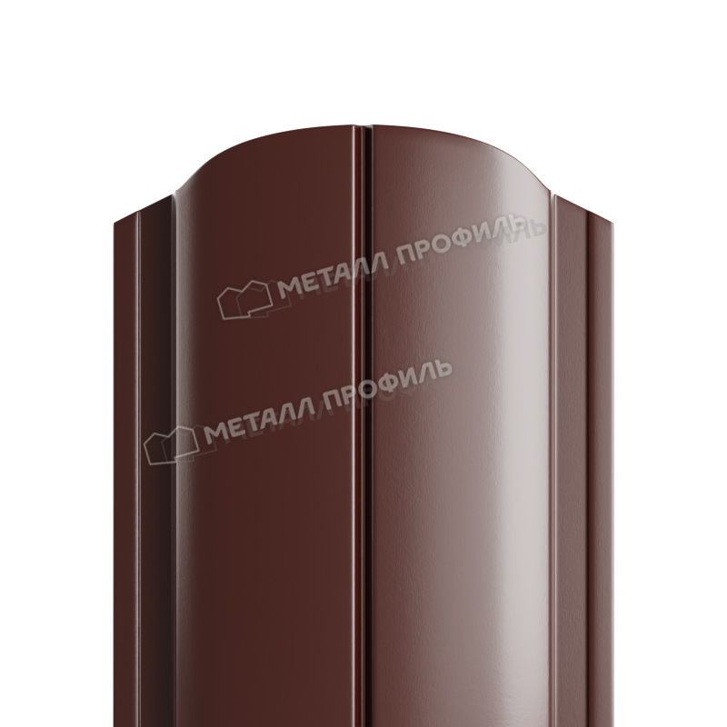 Штакетник металлический МП ELLIPSE-O 19х126 (ПЭ-01-8017-0.45)
