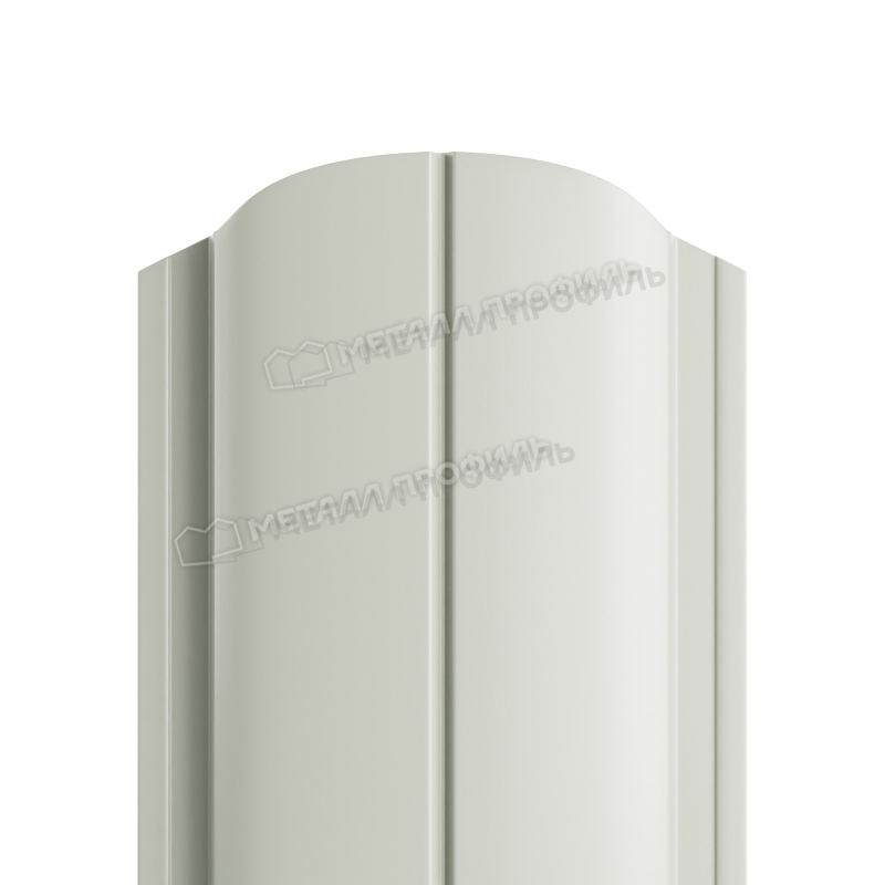 Штакетник металлический МП ELLIPSE-O 19х126 (ПЭ-01-9002-0.45)